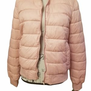 Garage pink puff jacket. L / new never worn. Good condition.  Size : Large.
